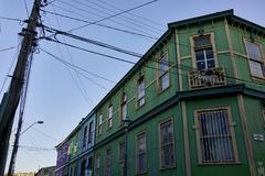 Colonial Architecture in Valparaiso Chile Royalty Free Stock Photos
