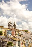 View of colonial architecture of Salvador city in Bahia Brazil. Colonial architecture view of Salvador city in Bahia Brazil royalty free stock photo