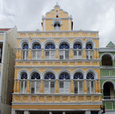 Colonial architecture in Willemstad, Curacao Royalty Free Stock Photography
