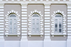 Colonial Architecture Windows Royalty Free Stock Images