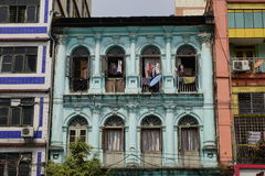 Colonial architecture in Yangon, Myanmar Stock Image