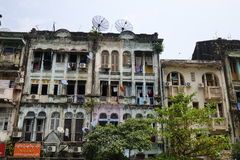 Colonial architecture in Yangon, Myanmar Royalty Free Stock Image