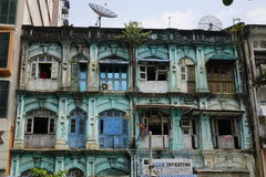 Colonial architecture in Yangon, Myanmar Royalty Free Stock Photo