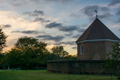 Colonial armory in historic Williamsburg Va Stock Photography