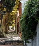 Colonial autumn. Old City street Colonia del Sacramento in autumn Royalty Free Stock Photos