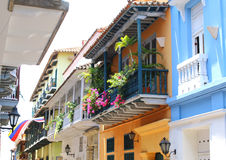 Colonial Balconies, Cartagena de Indias, Colombia Royalty Free Stock Images