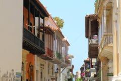 Colonial Balconies, Cartagena de Indias, Colombia Royalty Free Stock Images