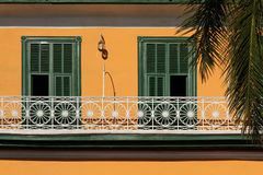 Colonial balcony in Trinidad Stock Images