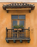 Colonial Balcony stock images