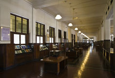 Colonial bank interior Royalty Free Stock Images