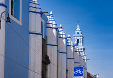 Colonial baroque Catholic Church in Puebla, Mexico Royalty Free Stock Photo