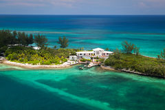 Colonial beach house in Nassau, Bahamas. Luxury white house in the Bahamas, Nassau, Colonial beach Stock Photos