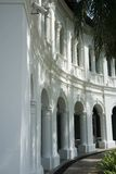 Colonial Building. A white colonial building located in Singapore City royalty free stock photography