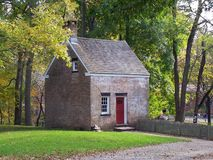 Colonial Building. This is a photo of an actual colonial times small brick building at Allaire State park in NJ stock photography