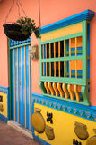 Colonial building in Guatape Stock Photography