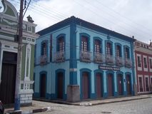 Colonial building in the historical center of Iguape, Brazil stock image