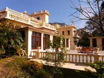 Colonial building. Image of colonial style building in Ananda resort in India Stock Images