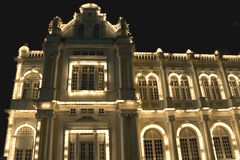 Colonial Building at Night stock image