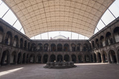 Colonial building. The old college of las Vizcaínas, beautiful colonial building, in the historic center of Mexico City Royalty Free Stock Photo