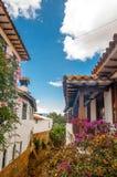 Colonial building of Villa de Leyva in Colombia royalty free stock image