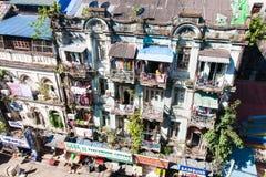 Colonial building, Yangon, Myanmar Stock Image