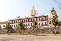 Colonial buildings in Cartagena de Indias, Colomb stock image