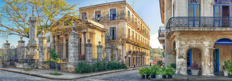 Colonial buildings in Old Havana Royalty Free Stock Photos