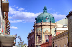 Colonial Builiding in Oxaca. Colonial palace and architecture in downtown Oaxaca, Mexico Stock Images
