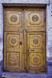 Colonial carved door royalty free stock images