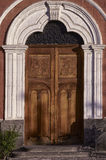 Colonial carved door Stock Photography