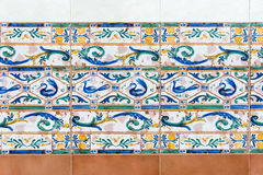 Colonial ceramic tile design,Cuba Royalty Free Stock Photography