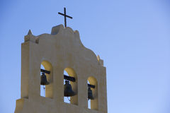 Colonial chapel in Cachi with blue sky, Argentina Stock Photography