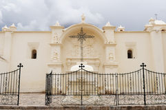 Colonial churcche in Peru, Yanque, Colca canyon Stock Images