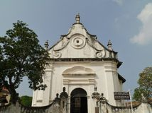 Colonial church in asia stock images
