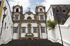 Colonial Church at Bahia, Brazil Royalty Free Stock Photography