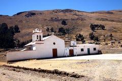 Colonial Church, Bolivia. Church near Copacabana, Lake Titicaca, Bolivia stock image
