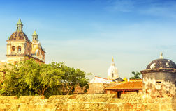 Colonial church in Cartagena Royalty Free Stock Photo
