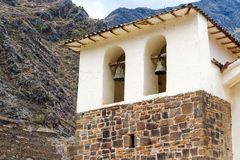 Colonial Church in Ollantaytambo Stock Images