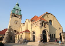 Colonial church in Qingdao Stock Images