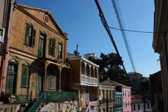 Old Pacific seaport city of Valparaiso, World Heritage Site and cultural capital of Chile. The colonial city of Valparaíso, Chile, enjoyed a privileged status royalty free stock photography