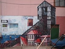 Old Pacific seaport city of Valparaiso, World Heritage Site and cultural capital of Chile. The colonial city of Valparaíso, Chile, enjoyed a privileged status royalty free stock photo