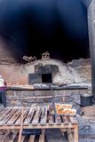 Colonial clay oven stock image
