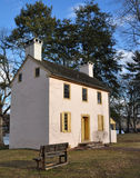 Colonial Cottage. Colonial building in an winter setting at Washington Crossing State Park in Pennsylvania Stock Photos