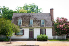 Colonial Cottage. A small cottage home in the New England area of the United States built during the colonial period Royalty Free Stock Photography