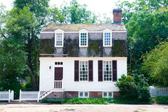 Colonial Cottage Home. A small cottage home in the New England area of the United States built during the colonial period Stock Image
