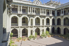 Colonial courtyard in Guatemala City Royalty Free Stock Images