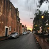 Colonial d'Atardecer Images stock