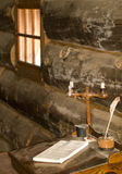 Colonial desk. At fort stanwix,rome,new york Royalty Free Stock Image