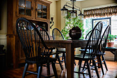 Colonial Dining Room Stock Photography