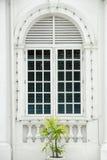 Colonial door - closed. A beautiful closed colonial door in Penang, Asia Royalty Free Stock Image
